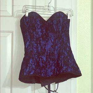 Medium Royal Blue Daisy corset